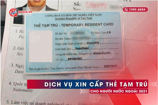 Dịch vụ thẻ tạm trú cho vợ/chồng người nước ngoài
